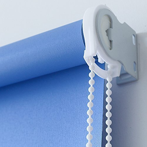 Roll Shade clutch bracket with White Blinds Beaded Chain
