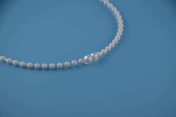 Transparent Plastic Chain Connector for Beaded Chain for Roller Shades and Vertical Blinds