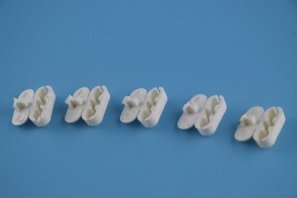 White Plastic Chain Connector for Beaded Chain for Roller Shades and Vertical Blinds