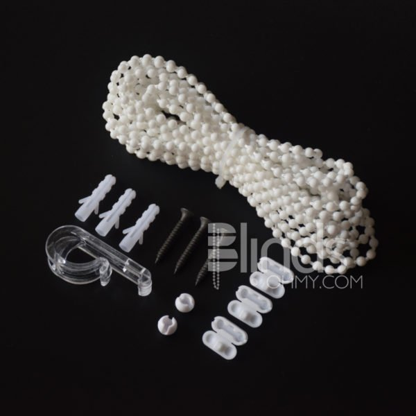 white Plastic Roller Blind Chain Repair 4x11mm,5 Yards Per Lot, Roller Curtain Bead Rope,blind Beaded Cord for Roller Blind Fitting