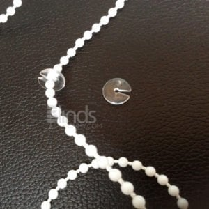 Roller blind beaded ball chain stops